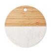 Servierplatte aus Marmor und Bambus - bedruckbar