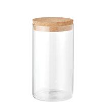 Aufbewahrungsglas aus Borosilikat mit Verschluss aus Kork 1000 ml - bedruckbar