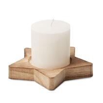 Sternförmiger Halter aus Pappelholz mit einer Kerze - bedruckbar