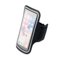 Verstellbare Oberarmtasche aus Neopren mit einer transparenten Vorderseite mit reflektierenden Details für das Smartphone - bedruckbar