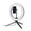 Selfie-Set mit LED-Ringleuchte 26 cm, Dreibein-Stativ und Smartphone-Halterung - bedruckbar