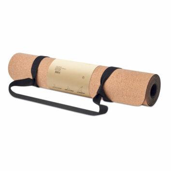 Yoga-Übungsmatte aus Kork und TPE-Material - bedruckbar