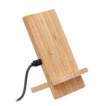 Induktive Double Coil Ladestation aus Bambus - bedruckbar