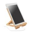 Faltbarer Tablet- oder Smartphone-Halter aus Bambus - bedruckbar