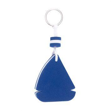 56-0407864 - blau, Schlüsselanhänger, Segelschiff, Segelboot, EVA, Werbemittel, bedruckbar