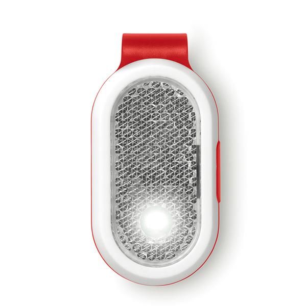 blinklicht mit clip wei es led licht und rotes sicherheitslicht aus abs kunststoff als. Black Bedroom Furniture Sets. Home Design Ideas