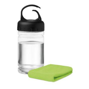 MO9203_48A-trinkflasche-mit-Handtuch-gruen-bedruckbar-bedrucken-Logodruck-Werbegeschenk-Werbeartikel-Rosenheim-Muenchen-Deutschland
