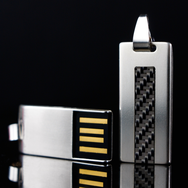 SILVER CARBON_2 USB Stick