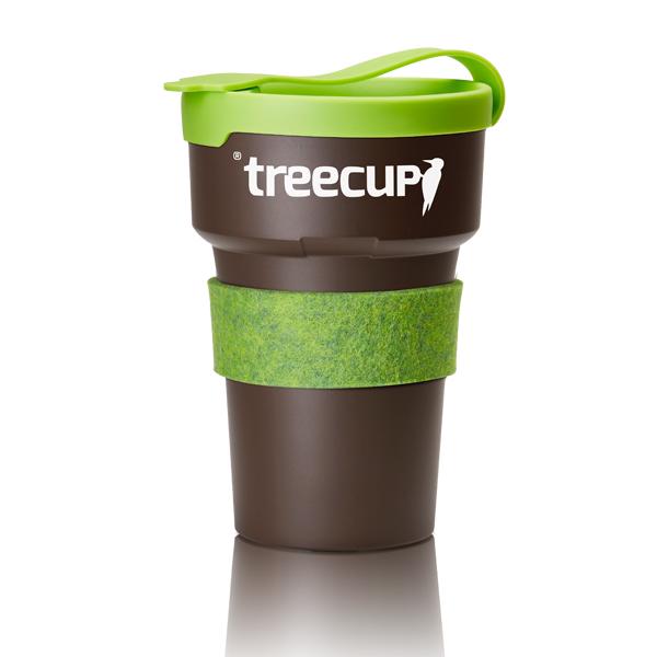 Coffee to go Becher recycelbar aus Baumharz zum Bedrucken