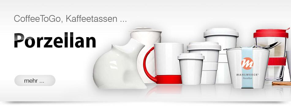 Coffee to go bedrucken Werbemittel Werbegeschenk Werbeartikel aus Porzellan