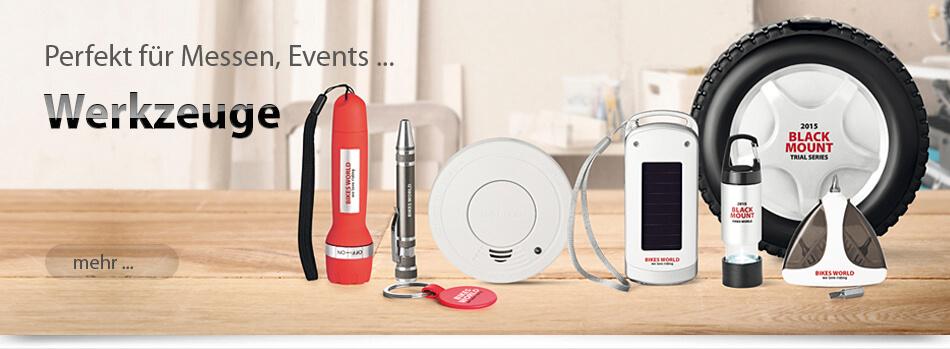 Muenchen-Werbeartikel Werkzeug, Multitools, LED Lampen, Sicherheit, Bitset bedrucken