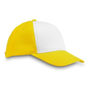 MO8651_1-Baseball-Kappe-gelb-fuenf-Panels-Kopfbedeckung-Muenchen-Rosenheim-Werbeartikel-bedrucken-bedruckbar.jpg