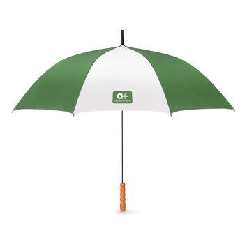 MO8800_1-Regenschirm-aufgeklappt-gruen-Logoaufdruck-Frontansicht-Muenchen-Rosenheim-Werbeartikel-bedrucken-bedruckbar.jpg