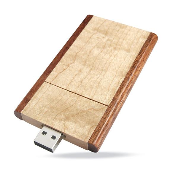 USB Stick aus Holz (bedruckbar)