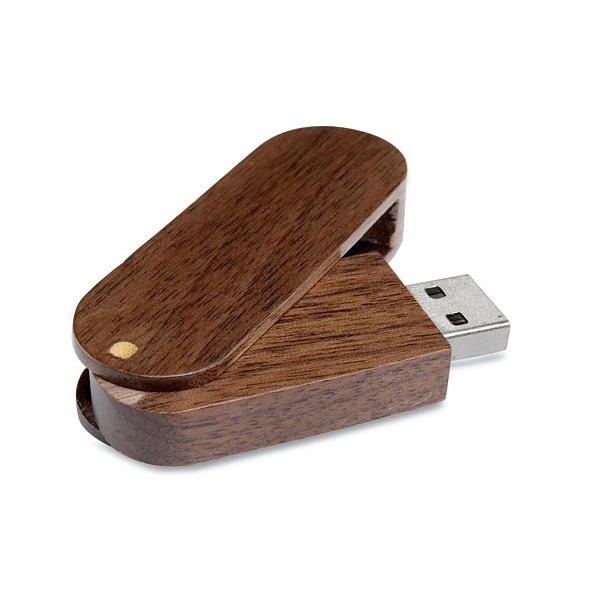 USB Stick aus Holz mit Verschlusskappe (bedruckbar)