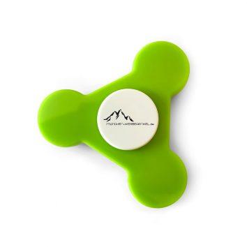 mo9151_48-Spinner-grün-Hanspinner-Kreisel-bedruckbar-bedrucken-Logodruck-Werbegeschenk-Werbeartikel-Rosenheim-Muenchen-Deutschland